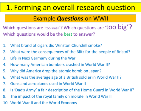 Forming a Research Question